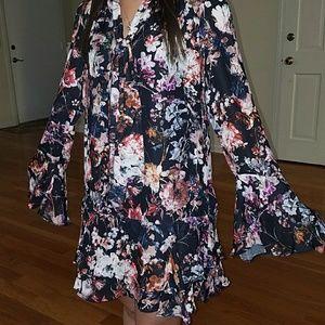 Parker Alstro Tie Front Floral Dress XS